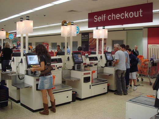 Cashiers are important even in a self-checkout area.