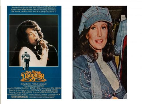 On The (Left) Coal Miner's Daughter 1980 Original Movie Poster Biography Drama Musical. (Right) Loretta Lynn Clipping Magazine photo orig 1pg 8x10 M4773 by Fabulous Hollywood Memories