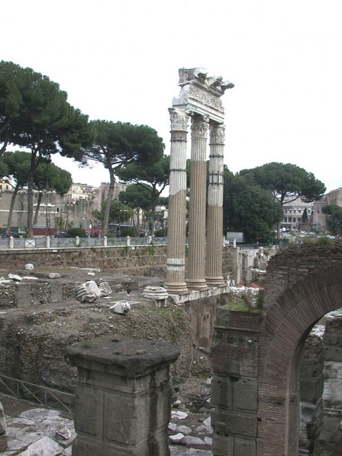 Ruins of the Temple of Venus at the Forum of Caesar