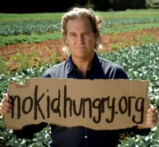 Jeff Bridges, National Spokesperson for the No Kid Hungry Campaign. For the last 30 years he has been a leading anti-hunger activist and advocate for children.
