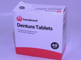 Homebrand Denture Tablets are a good way of keeping your Snorerx clean and odorless.