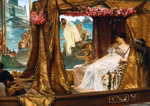 Mark Antony meeting Cleopatra
