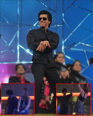 Here's a shocking video of Shah Rukh Khan flirting and dancing with a firang girl during the success party of his IPL win.