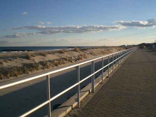 Bradley Beach, New Jersey: the beach on which I was sunbathing on the day I experienced the phototoxic reaction to the sun,