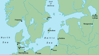 Eastern Sea -Baltic - trading centres in the Viking age