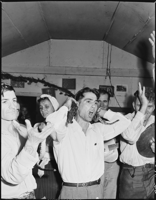 A sort of snake dance began as the fever heightened among the church folk.