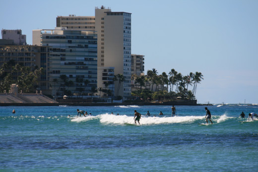 Waikiki early day surfers