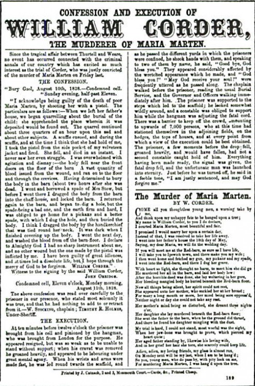 19th Century newspaper