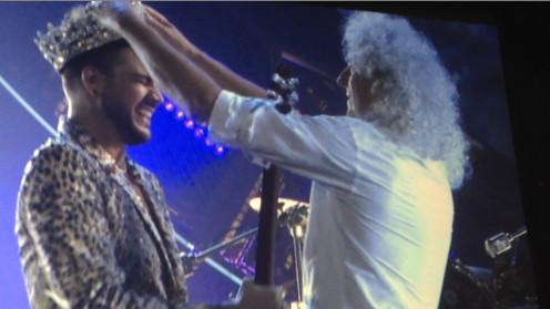 Adam Lambert is crowned by Queen