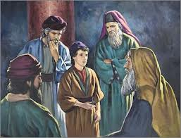 Jesus with the teachers of the law at the temple