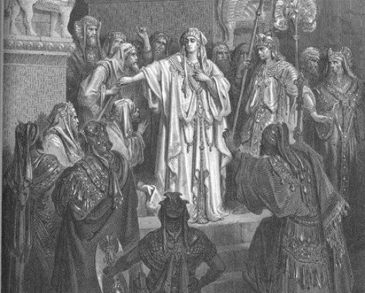 Queen Vashti Refuses to Obey Ahasuerus' Command.  Painting by Gustave Doré