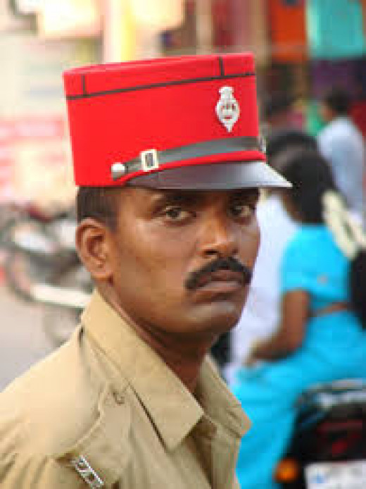 Cop With The French 'Kepi' In Pondicherry