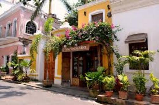 French Quarter In Pondicherry