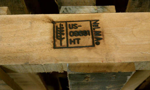 Check out the pallet markings. This one is heat treated, making it suitable for use. (HT)