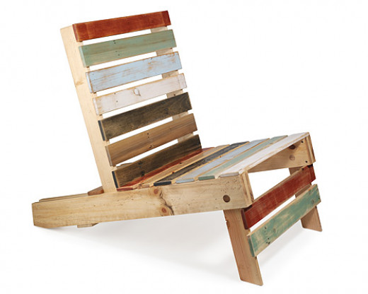 Pallet chair design.