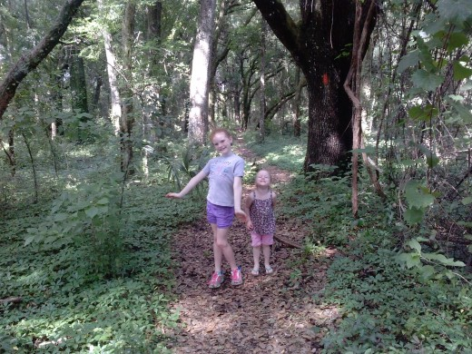 My girls having a blast on the trail!