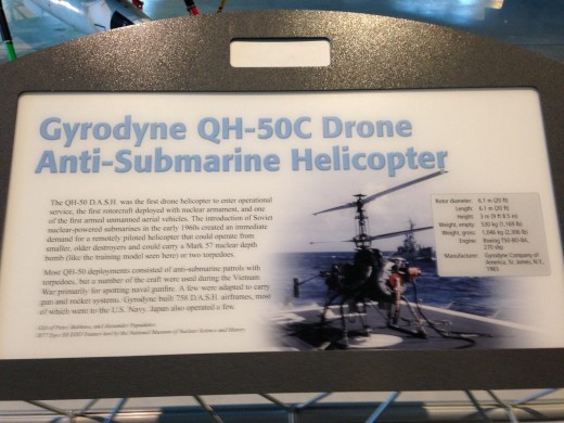 PLAQUE TO GO ALONG WITH THE QH-50C DRONE ANTI-SUBMARINE HELICOPTER IN NEXT TWO SLIDES