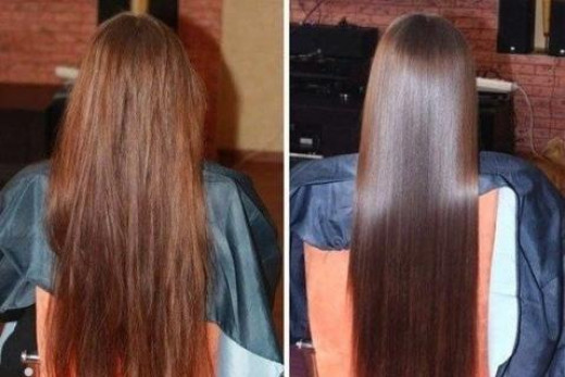 Coconut Oil for hair before and after pic