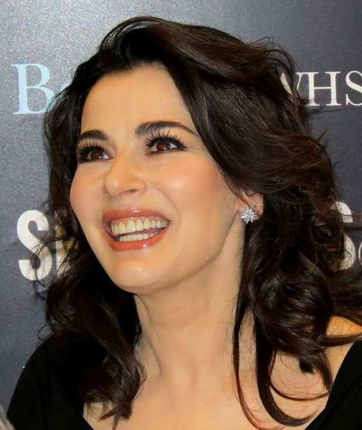 Nigella at 52 (she's now 54), photo taken in 2012 (Image with CC BY SA 3.0, Brian Minkoff-London Pixels