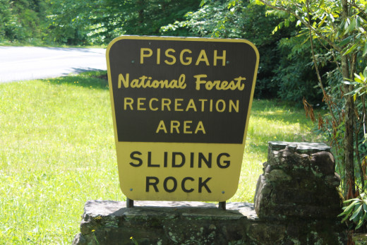 The entrance sign to Slider Rock Recreation Area.