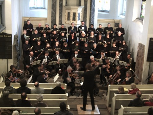 Mozart's Requiem being performed