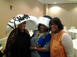 Mother of the Bride, Sylvia Jordan, in the middle with friends and guest at the Bridal Shower Tea Party.