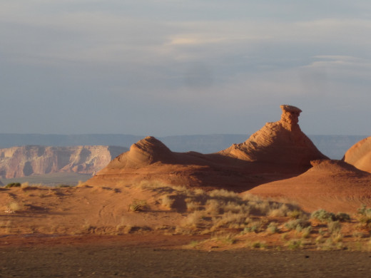 A sandstone butte in Monument Valley between Page and Antelope Canyon