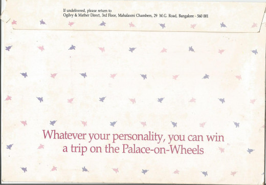 The Reverse Side Of The Direct Mail Envelope With The Offer