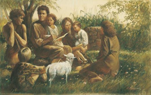 Adam and Eve Teach Their Children