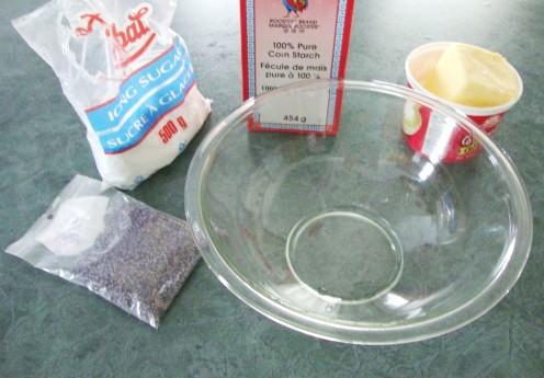 Image: Ingredients for Lavender Shortbread Cookies