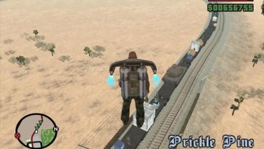 Look at me mummy, I'm flying! San Andreas and its beautiful cheats.