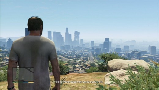 Nice view overlooking the Los Santos downtown area.