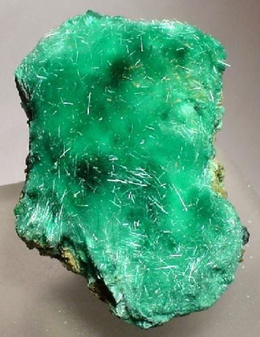 Brochantite can be found in Beaver County, Utah.  This specimen is from Bingham, New Mexico