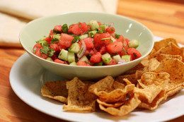 The thing that give it that refreshing taste is the cilantro because it makes the has a different taste when you're eating the shrimp or the fried pork but it does not matter what kind of meat your pairing it with this salsa will give you that differ