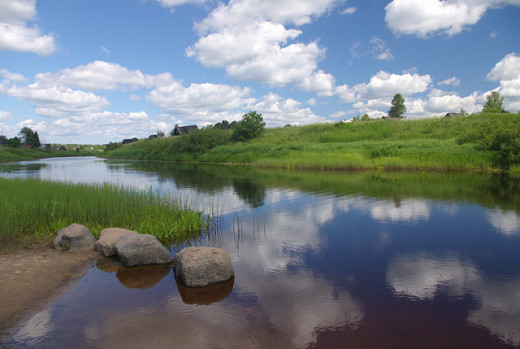 The River Volkhov near Lake Ladoga