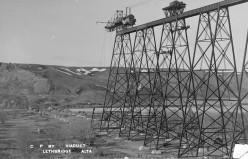 High Level Bridge under construction, 1908-1909