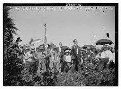 Senator J. Hampton Moore speaking to a crowd in 1913, was the one to first introduce the idea of a nationally recognized Father's Day to Congress in 1913.  The motion, never acted upon fell to the wayside for three more years.