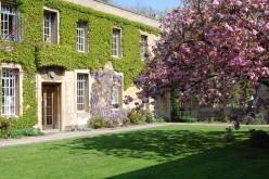 Regent's Park College quad in spring