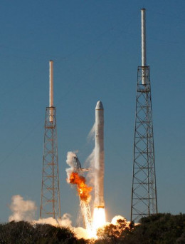 Successful SpaceX commercial launch.
