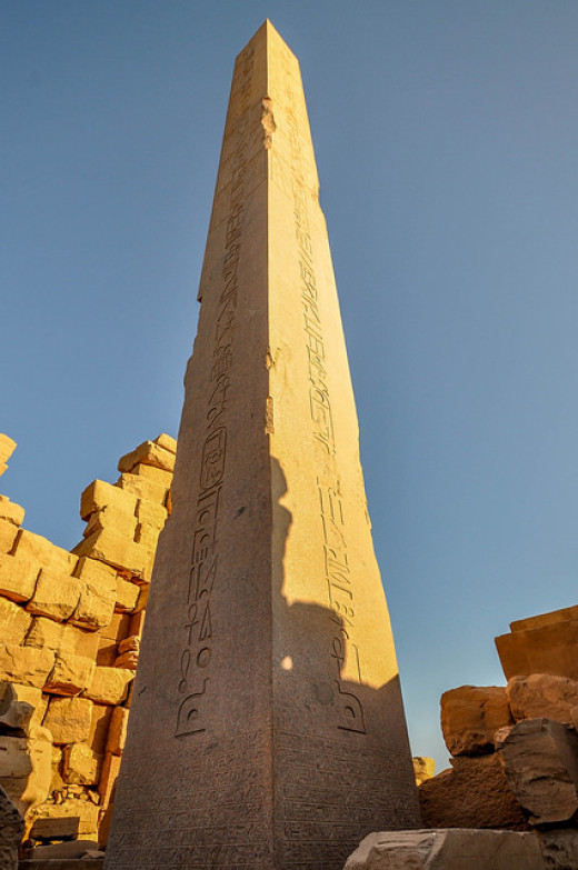 The Obelisk of Hatshepsut: Believed to be modelled on the mythical Benben Stone