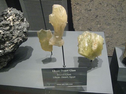 Libyan Desert Glass: Believed to be the result of meteorite impact
