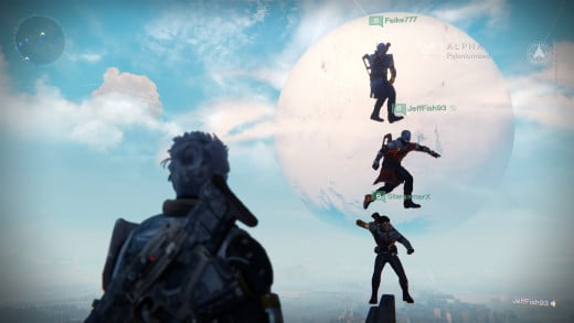 Dancing in the Tower with some friends