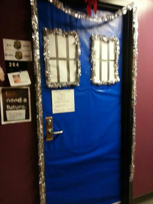 Tardis Door in a dorm at WCU