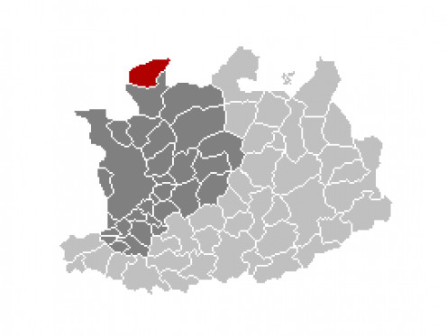 Map location of Essen, Antwerp province