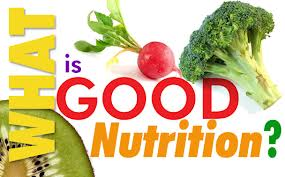 What is good nutrition ? How do we know and how does it effect me?