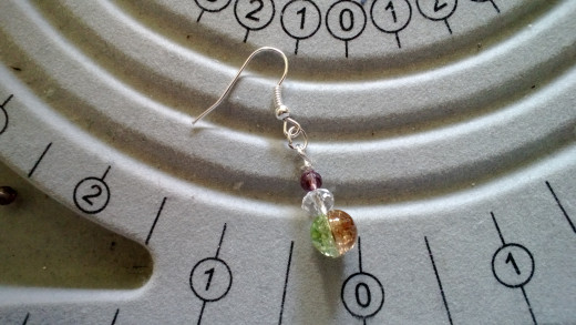 A completed earring