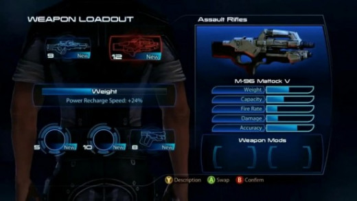 The Weapon Loadout Screen