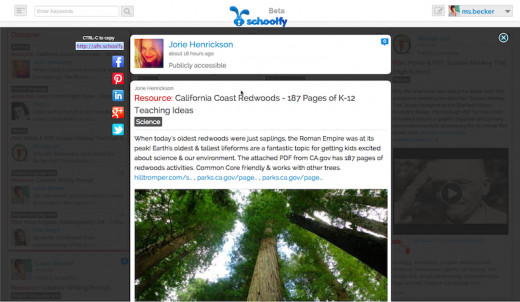 A knowledge capsule about California redwoods at Schoolfy.com