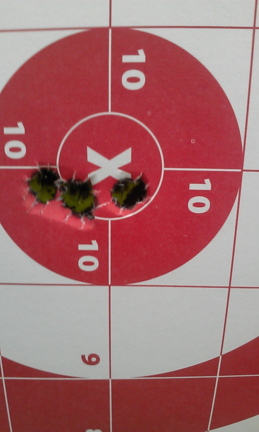 6.5 Grendel loaded with Hornady 123gr A-max bullets @ 100 yards. 5 shot group