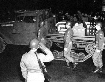 Patton's funeral procession.